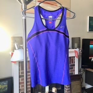 Nike Fit Dry purple black racerback tank